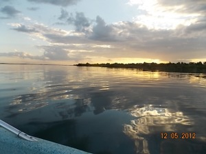 Sunset Lake Bacalar