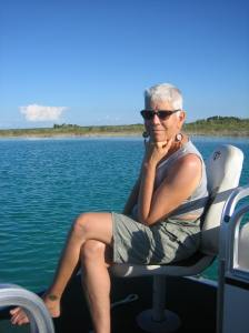 Alex Enjoying a Sunny Lake Bacalar Day