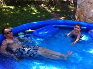 Dylan still loves the pool.