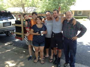 Grandson, Lisa, DIL, Sons & their dad.