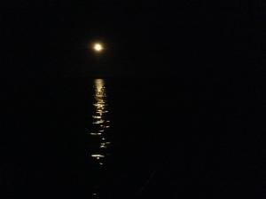 Moon on Bacalar
