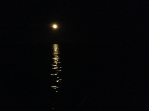 Moon on Bacalar