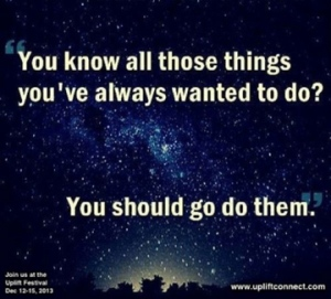 All the things you want to do