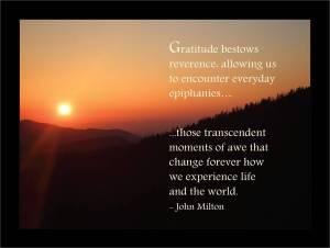 Gratitude, gratitude, gratitude