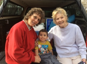 Lisa's mom and third Torta Alice with our grandson Hunter