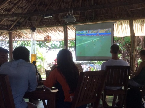 La Playita a great little restaurant for World Cup viewing.