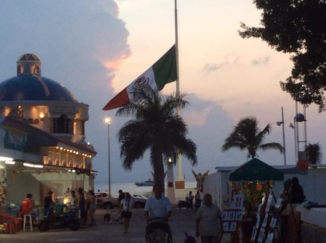 Sunset in Cozumel.