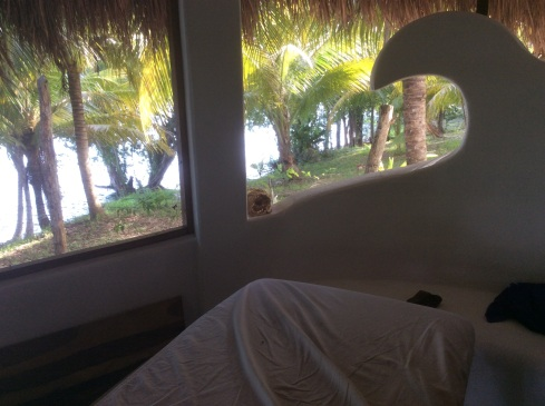 Massage room with a view.