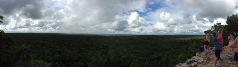 View from the top with rain cloud.