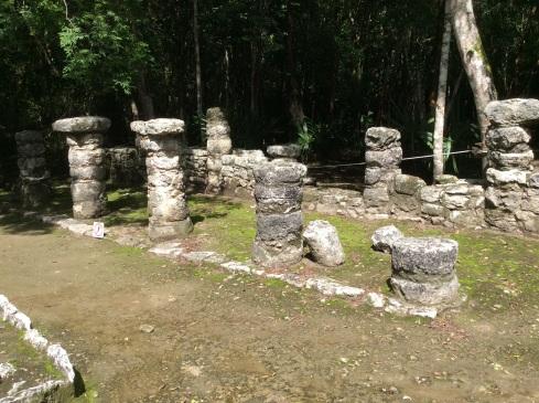 Stone columns.