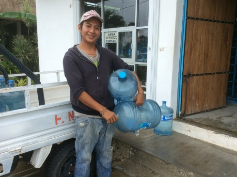 Our cute water guy.