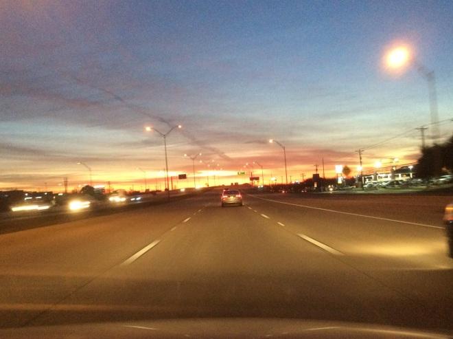 Heading toward the VA Clinic on highway 71.