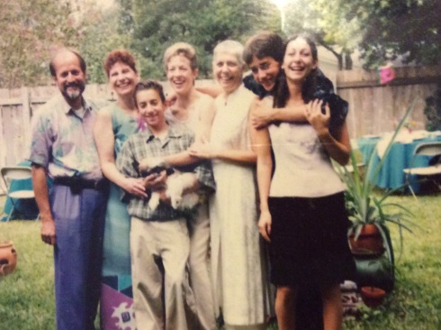 Our backyard commitment ceremony in 1999.