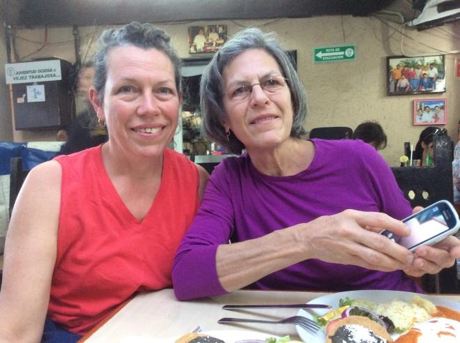 Roberta and Mary visit Bacalar.