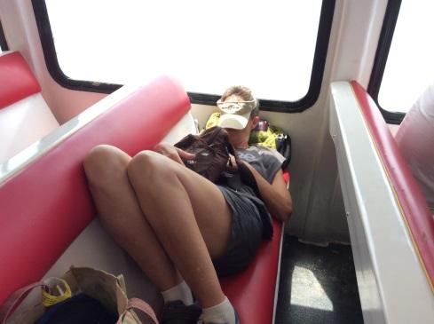 Lisa catching a little siesta.