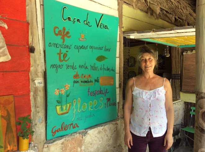 A world traveler living in a tiny village, Vera made us a delicious lunch.