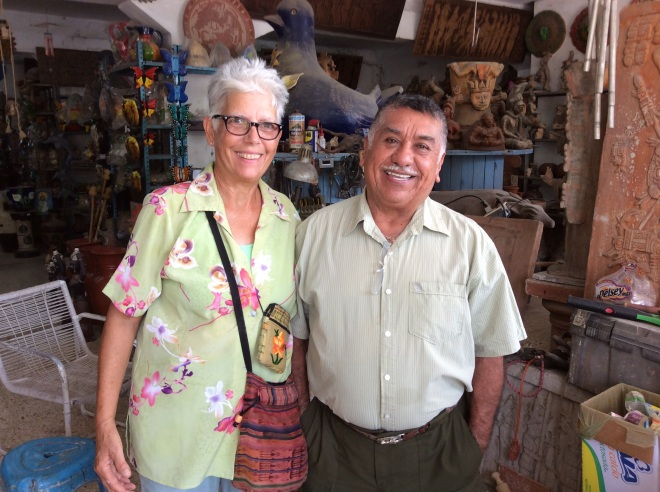 Andres, shop owner extraordinaire.