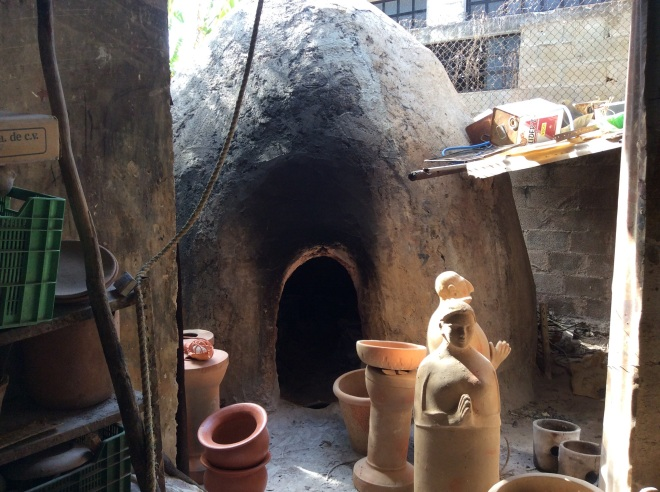 A huge kiln used to fire the pots.